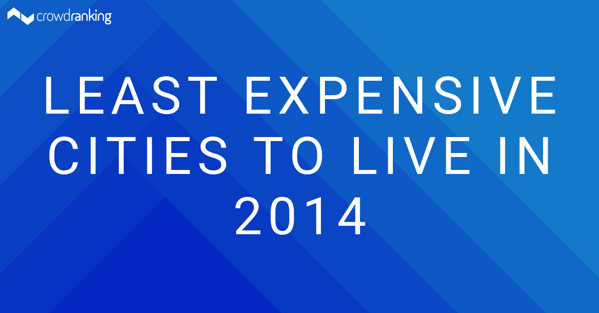 Least expensive cities to live in 2014 crowdranking